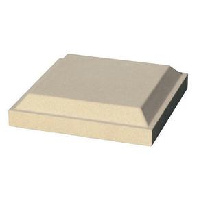 Chapeau de trumeau pierre reconstituée pour balustre séries 61/66/73 dim.32,5x32,5cm haut.7cm coloris blanc - Gedimat.fr