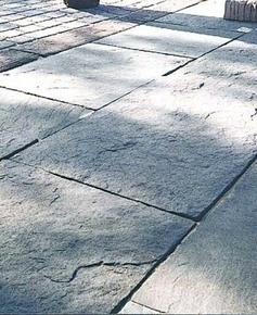 Dallage SCHISTONE multiformat grand modèle en pierre reconstituée ép.4cm coloris Lorraine - Gedimat.fr