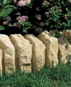 Bordurette RUSTIQUE en pierre reconstituée ép.15cm haut.16cm long.51cm coloris Gironde - Gedimat.fr