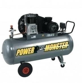 Compresseur POWER MONSTER professionnel 3HP courroie bi cylindre cuve de 150L - Gedimat.fr