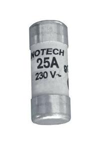 Cartouche fusible céramique cylindrique sans témoin de fusion diam.10,3mm long.31,5mm intensité 25A sous blister de 3 pièces - Gedimat.fr