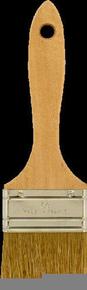 Brosse plate bâtiment fibres soies manche bois naturel n°60 larg.60mm - Gedimat.fr