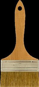Brosse plate bâtiment fibres soies manche bois naturel n°100 larg.100mm - Gedimat.fr