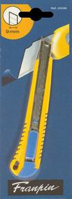 Cutter 9mm corps métallique gainé plastique jaune - Gedimat.fr