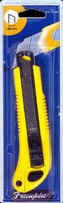 Cutter 18mm corps métallique gainé plastique rouge - Gedimat.fr