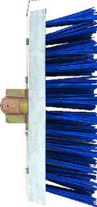 Balai de cantonnier fibres PVC vertes avec racloir en acier galvanisé semelle bois 32cm - Gedimat.fr