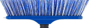 Balai spécial tapis fibres polypropylène bleu semelle bois 29cm - Gedimat.fr