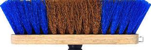 Balai pour carrelage coco/polypropylène ondulé à moustache semelle bois long.29cm - Gedimat.fr