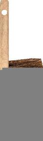 Balayette de chantier toutes surfaces fibres souples coco 4 rangs manche et semelle bois larg.45mm long.30cm - Gedimat.fr
