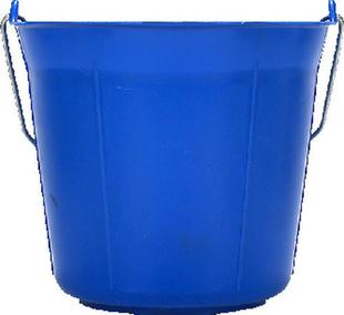 Seau rond polypropylène qualité supérieure anse métallique 11 litres bleu - Gedimat.fr