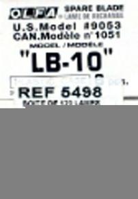 Lame de cutter acier trempé 18mm Olfa LB-10 étui de 10 pièces - Gedimat.fr