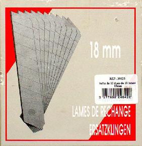 Lame de cutter acier trempé 18mm étui de 100 pièces - Gedimat.fr