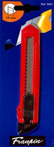 Cutter 18mm corps plastique Eco rouge - Gedimat.fr