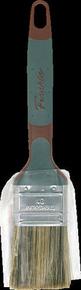 Brosse plate bi matière spécial traitement bois mélange soie et fibres synthétiques manche bi matière n°40 larg.38mm - Gedimat.fr