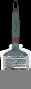 Brosse plate bi matière spécial traitement bois mélange soie et fibres synthétiques manche bi matière n°65 larg.65mm - Gedimat.fr