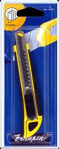 Cutter 9mm corps bi matière professionnel jaune/noir - Gedimat.fr