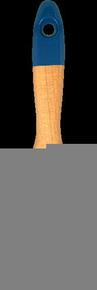 Brosse plate bi matière spécial acryl professionnelle mélange soie et fibres synthétiques manche bois verni n°80 larg.80mm - Gedimat.fr