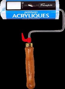 Rouleau professionnel pour murs et plafonds spécial acrylique diam.6cm larg.18cm - Gedimat.fr