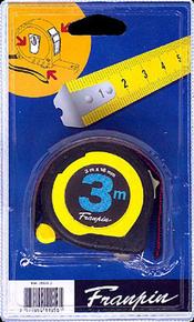 Mètre ruban boitier bi matière avec frein arg.25mm long.3m - Gedimat.fr