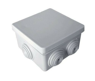 Boite de dérivation électrique étanche carrée étanchéité classe II diam.80x80mm haut.45mm coloris gris en lot de 3 pièces - Gedimat.fr