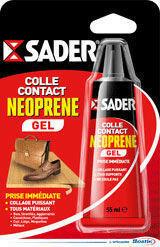 Colle contact néoprène liquide SADER tube de 55ml - Gedimat.fr