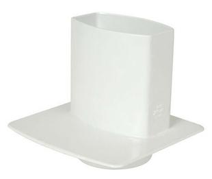 Pied de chute pour tube de gouttière NICOLL OVATION section 90x56mm coloris blanc - Gedimat.fr
