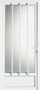 Porte d'entrée PVC ESTELLE avec isolation totale de 160 mm droite poussant haut.2,15m larg.90cm blanc - Gedimat.fr