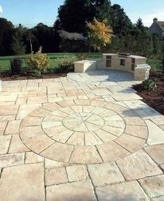Cercle MANOIR en pierre reconstituée d'aspect pierre de taille pack A diam.2,70m coloris Gironde - Gedimat.fr