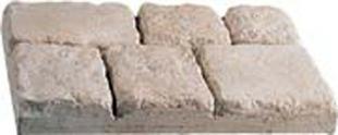 Pavé BASTIDE en pierre reconstituée ép.5,5cm larg.30cm long.45cm coloris Gironde - Gedimat.fr