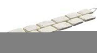 Pavé en pierre reconstituée CHINON en bande de 6 pavés ép.2cm larg.12cm long.1,02m coloris gris - Gedimat.fr