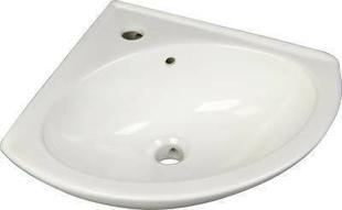 Lave-mains d'angle en porcelaine dim.38x38cm blanc - Gedimat.fr
