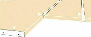 Profil finition aluminium pour plan stratifié de 28mm chant avant double rayons de 6/8mm - Gedimat.fr