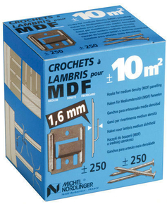 Clips pour lambris n°2 revêtu boite de 250 pièces - Gedimat.fr