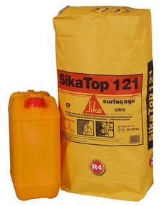 mortier sikatop 121 surfacage kit de 26 75kg gris. Black Bedroom Furniture Sets. Home Design Ideas