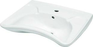 Lavabo mobilité réduite en porcelaine haut.60cm long.51cm blanc - Gedimat.fr