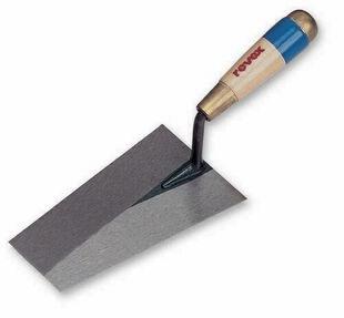 Truelle italienne carrée acier manche bois CAZZUOLA Long.22cm - Gedimat.fr