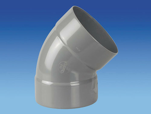 Coude d'évacuation en PVC à 45° femelle-femelle diam.160mm - Gedimat.fr