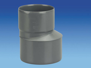 Réduction extérieure excentrée en PVC mâle-femelle diam.100/80mm - Gedimat.fr
