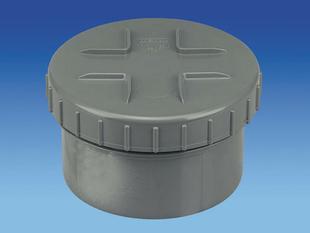 Tampon de visite en PVC avec bouchon diam.160mm - Gedimat.fr