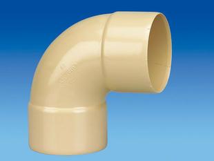 Coude PVC pour tube de descente de gouttière diam.80mm angle 87°30 femelle-femelle coloris sable - Gedimat.fr