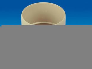 Manchon PVC femelle-femelle à coller pour tube de descente de gouttière diam.80mm coloris sable - Gedimat.fr