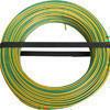 Câble électrique unifilaire cuivre H07VU section 1,5mm² coloris vert/jaune en bobine de 100m - Gedimat.fr