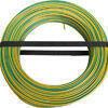 Câble électrique unifilaire cuivre H07VU section 2,5mm² coloris vert/jaune en bobine de 100m - Gedimat.fr