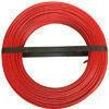 Câble électrique unifilaire cuivre H07VU section 2,5mm² coloris rouge en bobine de 100m - Gedimat.fr