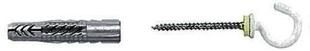 Cheville universelle nylon UX-RK diam.6mm long.35mm 4 pièces avec crochet rond - Gedimat.fr