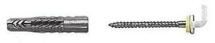 Cheville universelle nylon UX-K diam.6mm long.35mm 4 pièces avec crochet droit - Gedimat.fr