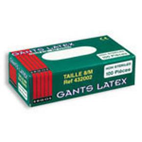 Gant latex poudré à usage unique taille 9 blanc boite de 100 pièces - Gedimat.fr