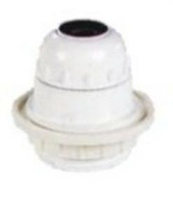 Douille électrique plastique culot à visser E27 chemise 1/2 filetée + bague diam.58mm blanche - Gedimat.fr