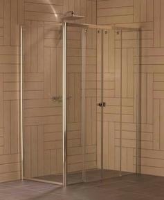 Paroi fixe à 90° ALESIA haut.2m long.79,5cm profilés blanc verre transparent - Gedimat.fr