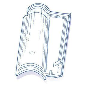 Tuile de verre PLEIN SUD long.30,6cm larg.48cm - Gedimat.fr